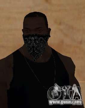 New Bandanas Style para GTA San Andreas quinta pantalla