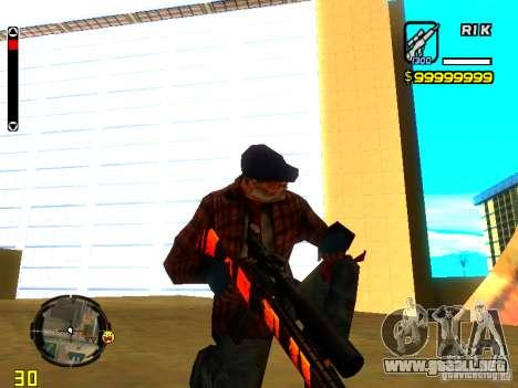 Tiger wepon pack para GTA San Andreas sucesivamente de pantalla