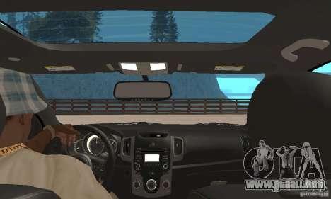 Kia Forte Koup 2010 para GTA San Andreas vista hacia atrás