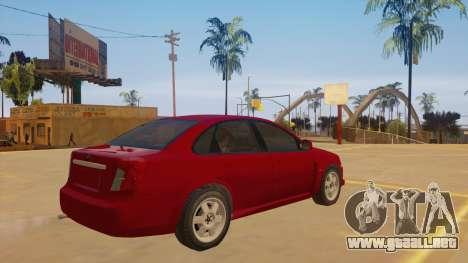 Buick Excelle para la visión correcta GTA San Andreas