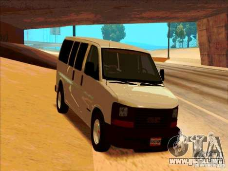GMC Savanna 2500 para GTA San Andreas vista hacia atrás