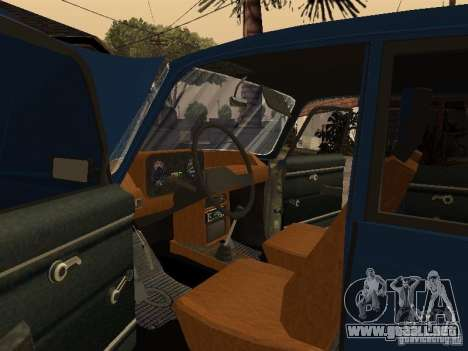 Moskvich 412-4 x 4 para la vista superior GTA San Andreas