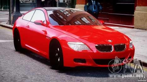 BMW M6 Orange-Black Bullet para GTA 4 vista interior