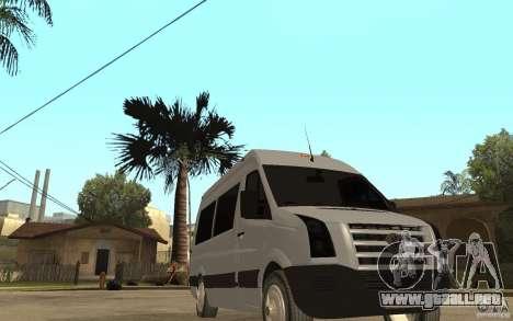 Volkswagen Crafter school bus para GTA San Andreas vista hacia atrás