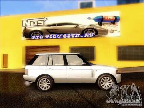 Land-Rover Range Rover Supercharged Series III para GTA San Andreas vista hacia atrás