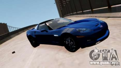 Chevrolet Corvette Grand Sport 2010 para GTA 4 vista lateral