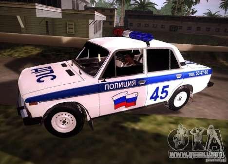 2106 VAZ policía v 2.0 para GTA San Andreas left
