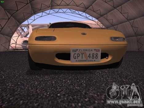 Mazda MX-5 1997 para GTA San Andreas vista hacia atrás