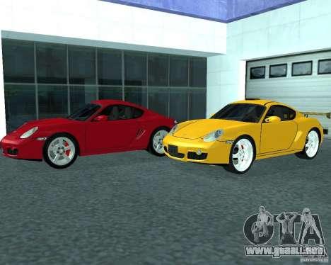 Porsche Cayman S para GTA San Andreas vista posterior izquierda