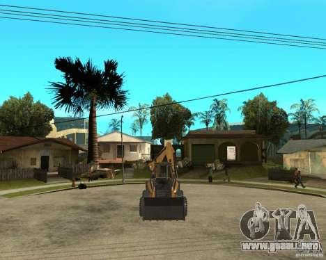 Lastik Tekerli Dozer para GTA San Andreas vista hacia atrás