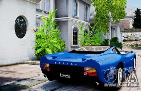 Jaguar XJ 220 para GTA 4 Vista posterior izquierda