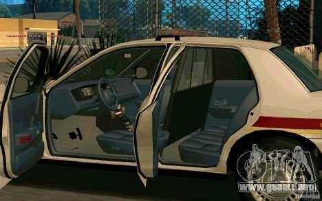 Ford Crown Victoria South Dakota Police para GTA San Andreas vista hacia atrás