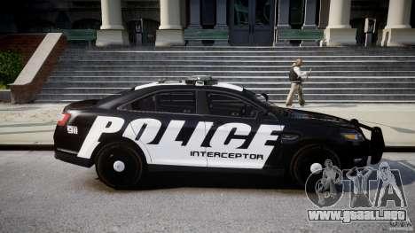 Ford Taurus Police Interceptor 2011 [ELS] para GTA 4 vista interior