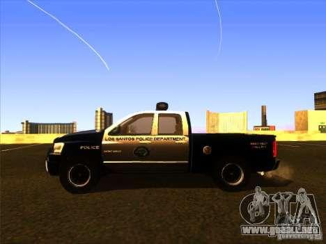 Dodge Ram 1500 Police para GTA San Andreas vista posterior izquierda