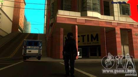 SWAT Officer para GTA San Andreas sucesivamente de pantalla