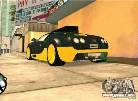 Bugatti Veyron Super Sport final para la visión correcta GTA San Andreas