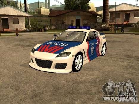 Mazda RX-8 Police para GTA San Andreas