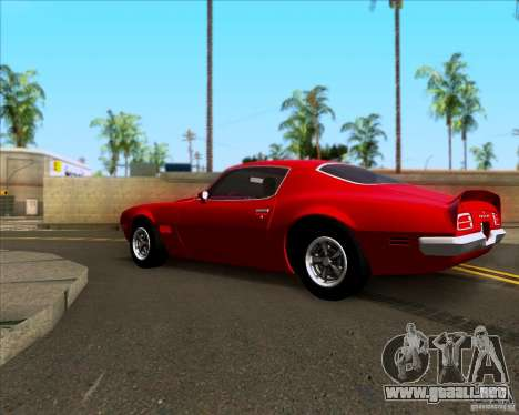 Pontiac Firebird 1970 para GTA San Andreas left