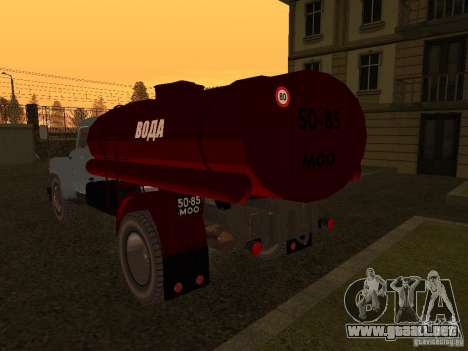 GAZ 53 aguador para GTA San Andreas vista posterior izquierda