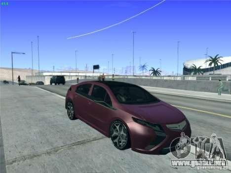 Opel Ampera 2012 para vista lateral GTA San Andreas