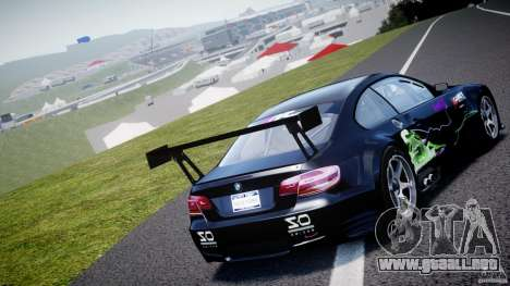 BMW M3 GT2 Drift Style para GTA 4 Vista posterior izquierda
