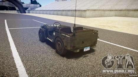 Walter Military (Willys MB 44) v1.0 para GTA 4 Vista posterior izquierda