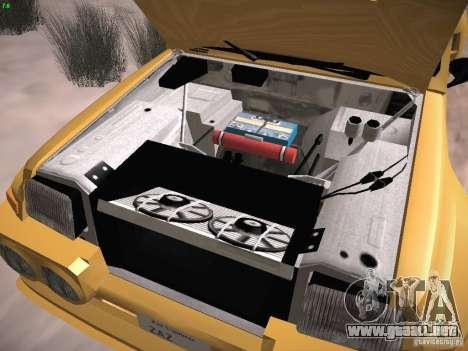 Renault 5 Turbo para visión interna GTA San Andreas