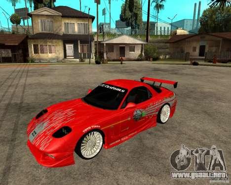 Mazda RX7 FnF para GTA San Andreas