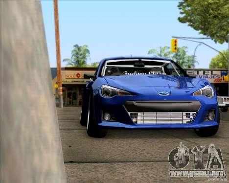 Subaru BRZ Stance para la visión correcta GTA San Andreas