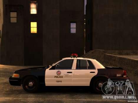 Ford Crown Victoria LAPD v1.1 [ELS] para GTA 4 visión correcta