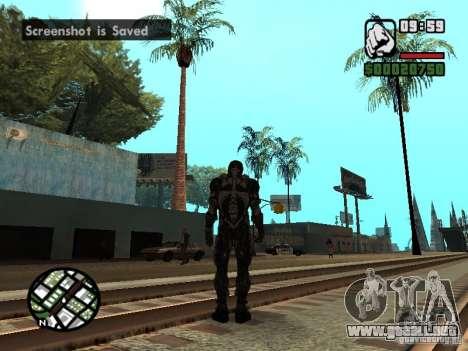 Crysis Nano Suit para GTA San Andreas quinta pantalla
