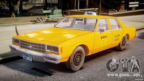 Chevrolet Impala Taxi v2.0 para GTA 4 left