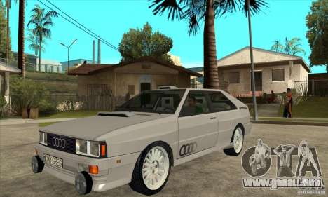 Audi Quattro para GTA San Andreas vista posterior izquierda