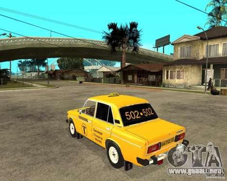 Taxi 2106 VAZ para GTA San Andreas