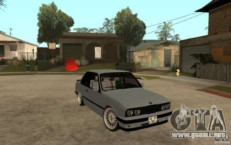 BMW E30 CebeL Tuning para GTA San Andreas vista hacia atrás