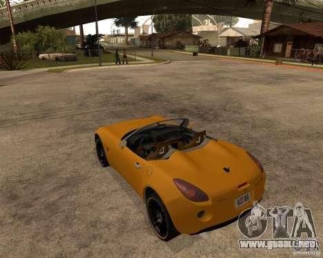 Pontiac Solstice GXP para la visión correcta GTA San Andreas