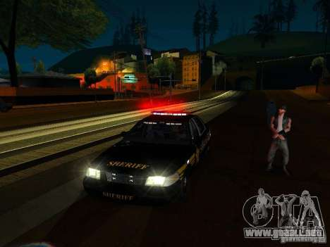 Ford Crown Victoria Erie County Sheriffs Office para vista inferior GTA San Andreas