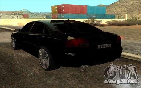 Audi A8l W12 6.0 para GTA San Andreas left