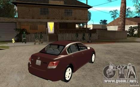 Honda Accord 2009 para la visión correcta GTA San Andreas