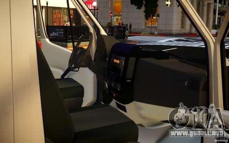 Mercedes-Benz Sprinter Passenger para GTA 4 vista desde abajo
