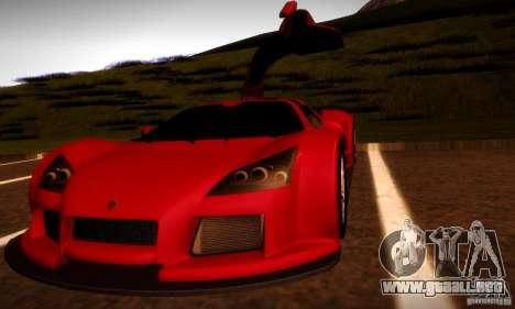 Gumpert Apollo para vista lateral GTA San Andreas