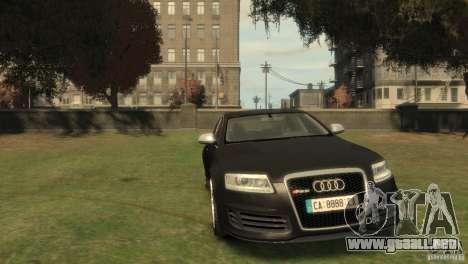 Audi RS6 v.1.1 para GTA 4 vista hacia atrás