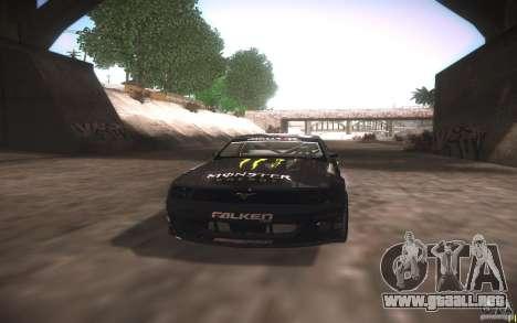Ford Mustang Monster Energy para visión interna GTA San Andreas