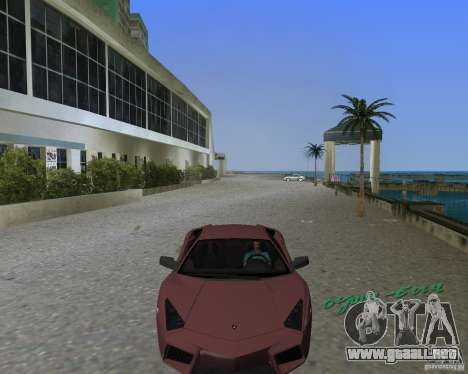 Lamborghini Reventon para GTA Vice City vista lateral izquierdo