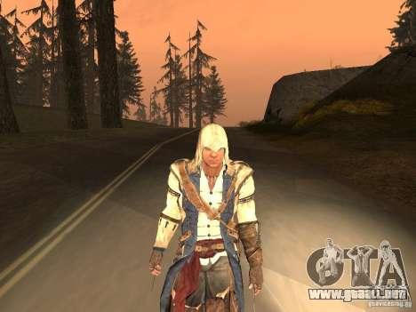 Connor From ACIII para GTA San Andreas sexta pantalla