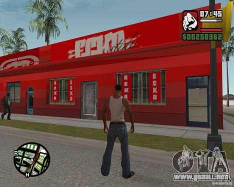 Ecko tienda para GTA San Andreas
