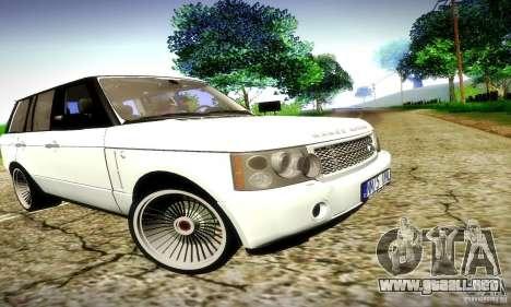 Range Rover Supercharged para la vista superior GTA San Andreas
