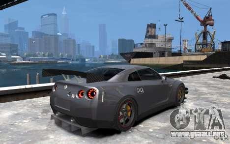 Nissan GT-R v1.1 Tuned para GTA 4 visión correcta
