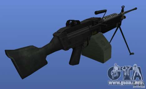 Ametralladora M249SAW para GTA 4 tercera pantalla
