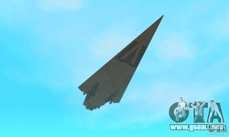 Executor Class Stardestroyer para vista lateral GTA San Andreas